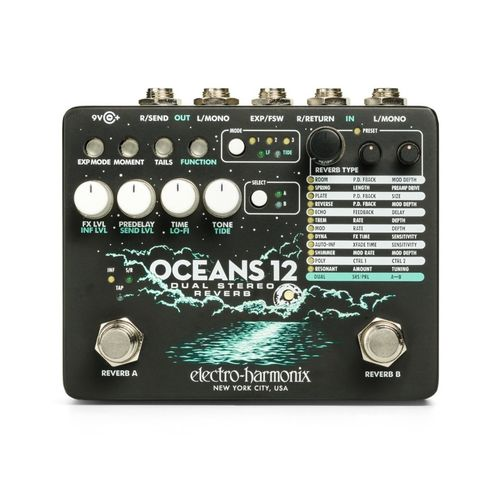 Pedal ELECTRO HARMONIX Oceans 12 Dual Stereo Reverb